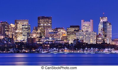 Boston Back Bay - Skyline of landmark high rises in Back...