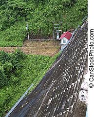 Khun Dan Prakan Chon Dam - Control room front of Khun Dan...
