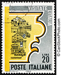 Postage stamp Italy 1966 Tourist Attractions - ITALY - CIRCA...