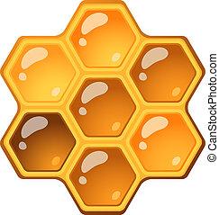 Honeycomb isolated over white. EPS 10, AI, JPEG