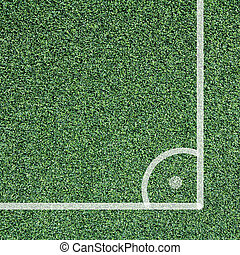 Corner Soccer field - Corner of soccer field, view top