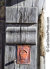 Entrance - Handmade wooden entrance of a house in...