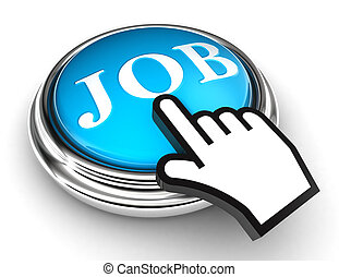 job blue button and pointer hand