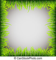 Grass frame.Vector eps 10