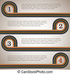 Design template with retro lines.Vector eps10