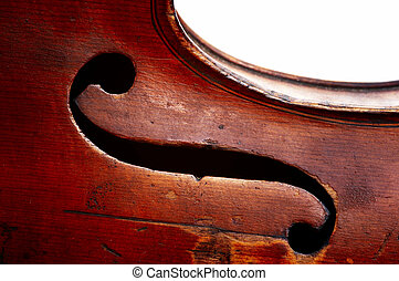 g clef - Abstract detail of the old fiddle - G clef