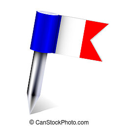 Vector France country flag isolated on white. Eps10