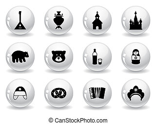 Web buttons, russian icons