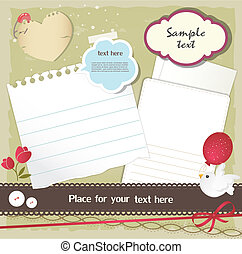 Scrapbook elements - Set of scrapbook elements