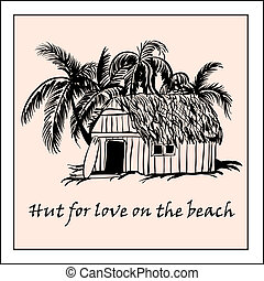 beach-17 - Hut for love on the beach