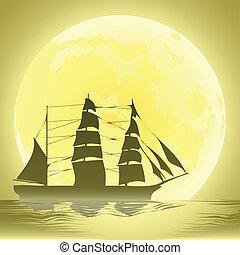 ship-1 - ship in ocean at night