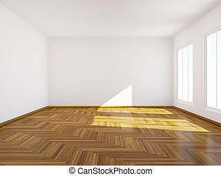 Empty room. - Empty room with classic parquet.