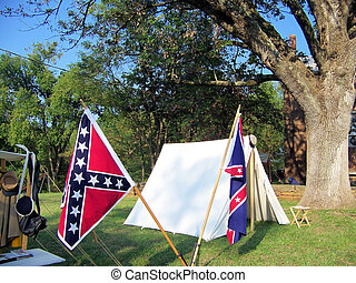 Civil War Reenacters Camp - The yearly show put on by the...
