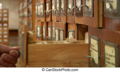 Search the library card 1