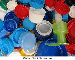 Solidarity caps. - solidarity caps of recycling plastic