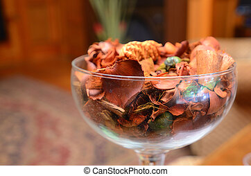 potpourri in a glass bowl