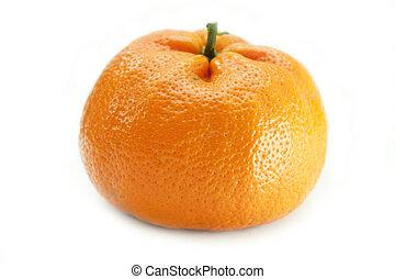 naranja, blanco, Plano de fondo, aislado, maduro