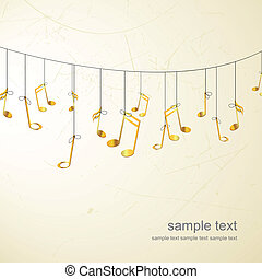 Golden notes - Vector illustration of golden notes