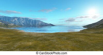 landscape without vegetation