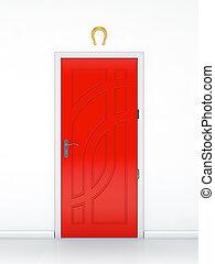 Red door and the golden horseshoe