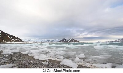 Arctic landscape - ice and clouds