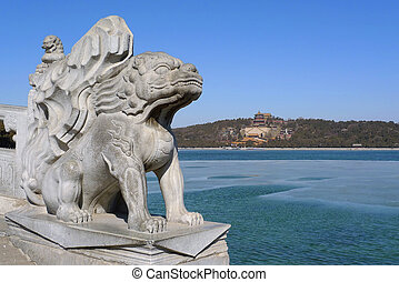 Imperial guardian lion in the Summer Palace