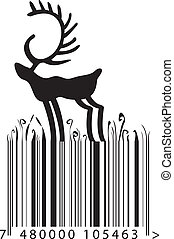 barcode reindeer - barcode with the lines like a grass...