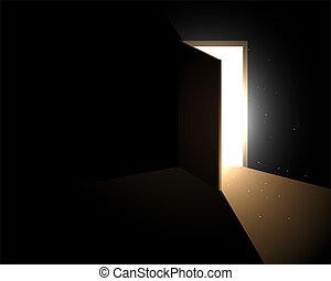 light from the open door