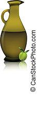 olive oil bottle - illustration of olive oil bottle with tho...