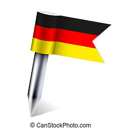 Vector Germany country flag isolated on white. Eps10