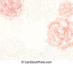 Abstract romantic vector background in pink colors