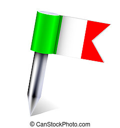 Vector Italy country flag isolated on white. Eps10