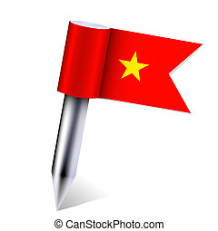 Vector Vietnam country flag isolated on white. Eps10