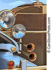 Golden oldtimer grill