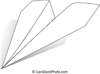 Paper Airplane - The plane of the sheet of white paper....