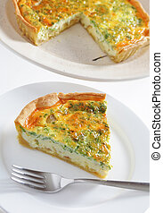 Onion and parsley quiche