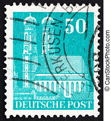 Postage stamp Germany 1948 Our Lady?s Church, Munich