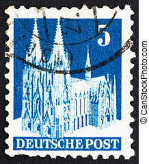 Postage stamp Germany 1948 Cologne Cathedral