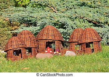 cestería, -, aldea, duendes