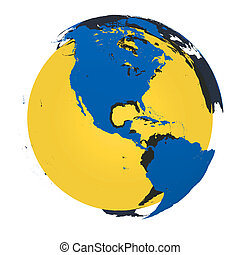 Model of Earth with golden core