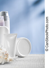 cosmetical tube and bottles
