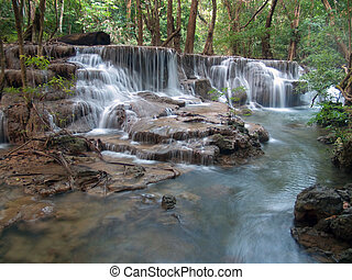 Huay Mae Kamin Waterfall - Sixth floor of Huay Mae Kamin...