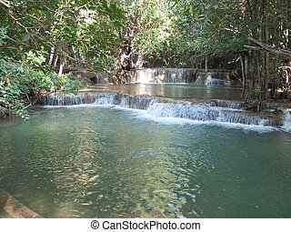 Huay Mae Kamin Waterfall - Second floor of Huay Mae Kamin...