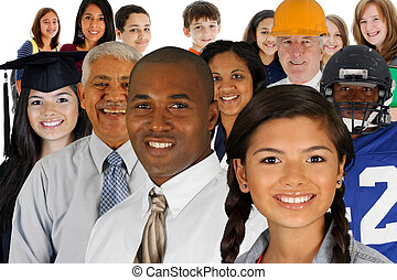 Large Group Of People - People of all different races and...