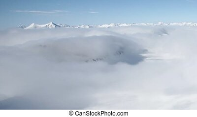Sea of clouds over the mountains