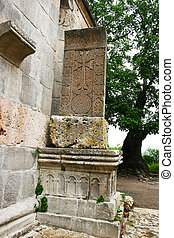 Khachkar or cross-stone - Cross-stone or khachkar at the...