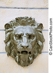 antique lion relief, Florence,Italy,Europe - The antique...
