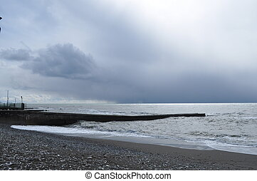 Overcast mystical Black Sea