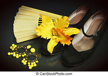 Flamenco accessories - Still-life with flamenco accessories...