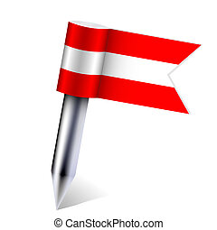 Vector Austria country flag isolated on white. Eps10